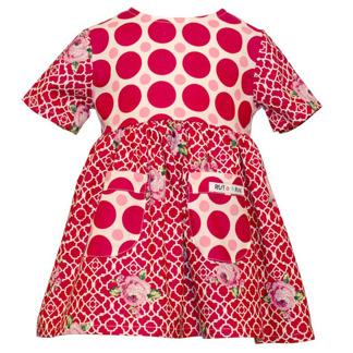 Klänning-mixade mönster - Klänning i mixade mönster 92 cl