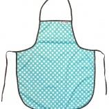 Förkläde - Ljusblå prick