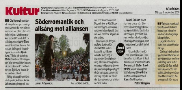 Aftonbladet 1 sept. 2008
