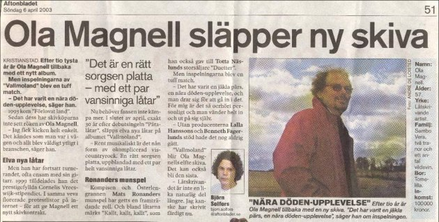 Aftonbladet april 2003