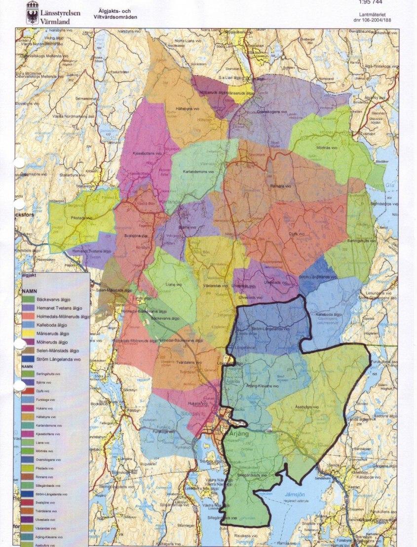 2011 bildades Järnsjöbygdens älgskötselområde.10752ha, där fyra vvo:n ingår:Sillegårdseds, Ström-Långelanda,Åsebyfors och Årjäng-Klevane