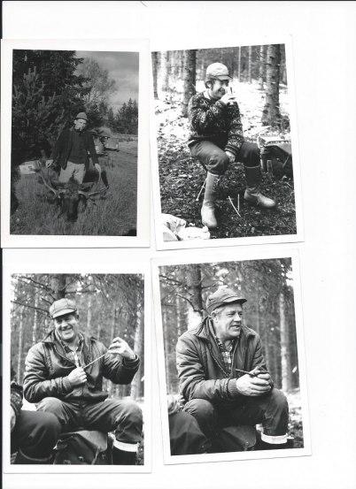 Glada profiler. Överst fr. v Roland, Uno på Herrgårn. Nederst, Harald på Sätra.