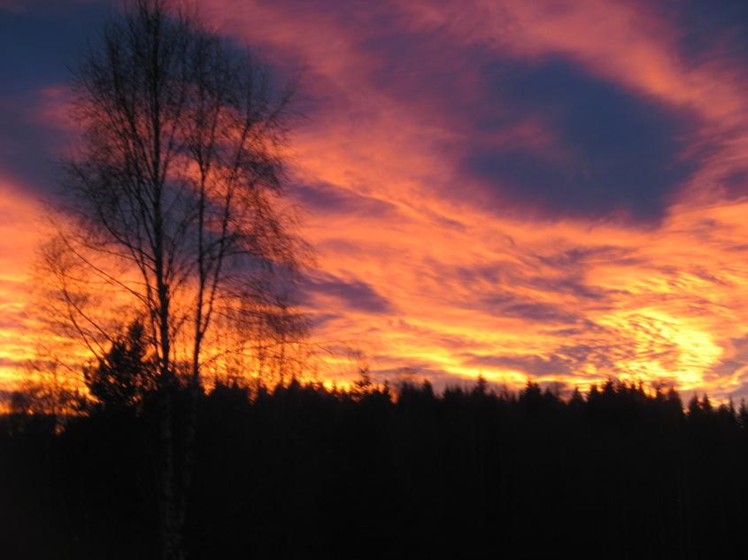 Himlen har tagit eld, 27/11-2013. Foto Paul.
