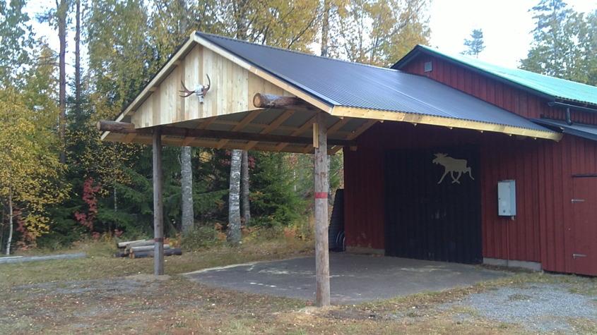2013 bygger vi tak över entrén.