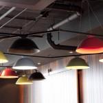 Lampor i restaurangen
