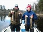Mats och Jesper är två vana fiskare från Sankt Annas Skärgård som uppskattade fisket i Dalälven. Klicka på bilden för att se den i större format!