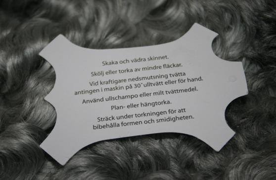 Lammskinn av Gotlandsfår