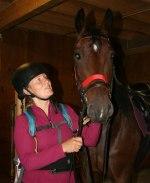 Eva och hennes häst Prissan. Klicka för att se bilden i större format.