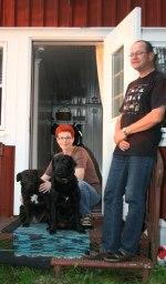 Astrid och Peter med sina älsklingar Donna och Panda! Klicka på bilden för att se den i större format!