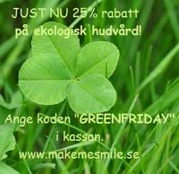 Green Friday - rabatt på ekologisk hudvård