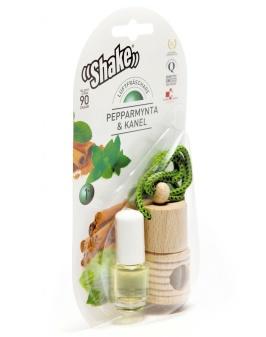 SHAKE™ Luftfräschare Pepparmynta & Kanel - Eterisk olja i vacker förpackning. Bildoft som från backspegeln sprider doft som hjälper dig vara alert.