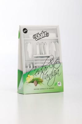SHAKE™ Doftpåsar för garderob - Vanilj & Cedar doftpulver för väldoftande textilier