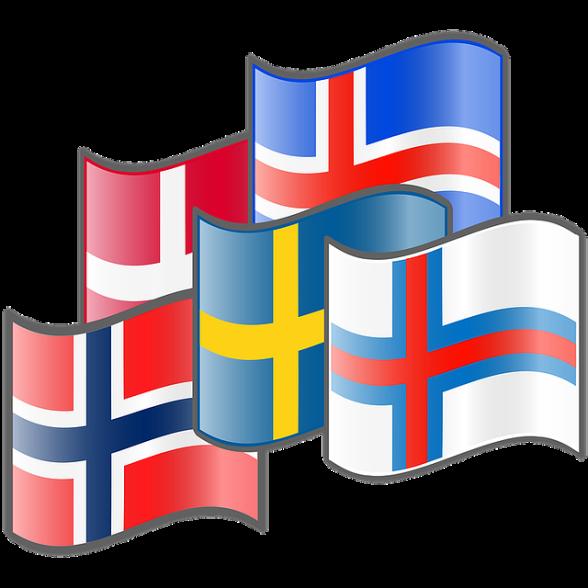 Alla de nordiska flaggorna