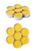 6-pack Värmeljus av bivax - Värmeljus 6-pack silver metallkopp