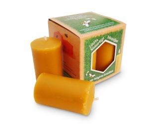 Blockljus av bivax - 4pack - 4 Blockljus av bivax, bredd 35mm, höjd 65mm, 4-pack