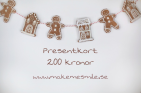 Presentkort pepparkakor 200 kr