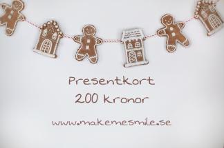 e-Presentkort pepparkakor 200 kr - e-Presentkort pepparkakor200 kr