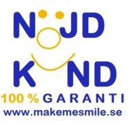 Makemesmile.se gillar nöjda kunder och har 100% nöjd kundgaranti