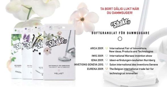 Shake doftpulver för dammsugare