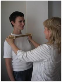 Mätning av skelettet för att fastställa kroppstypen
