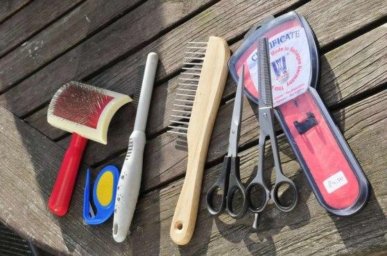 My grooming equipment: