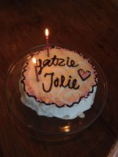 Jolie left on Yatzie's birthday, so we had a reason to eat a nice cake!