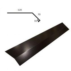Fotplåt 2 - Matt svart till Stilpanna tex. Tillverkas i 2 meters längder