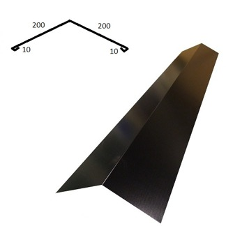 Taknock/nockplåt bred - Taknock/nockplåt bred - Blank polyester Svart 0.5 mm