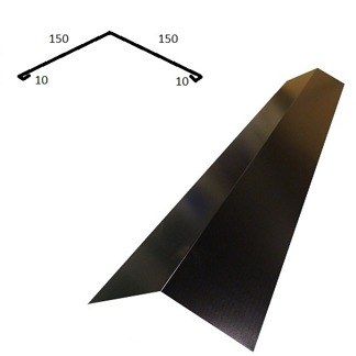 Taknock/nockplåt smal - Taknock/nockplåt smal - Blank polyester Svart 0.5 mm