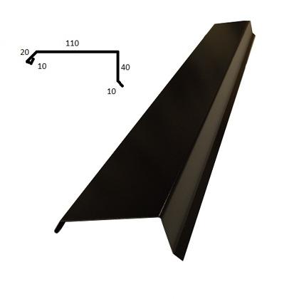 Matt svart - Passar till Stilpanna tex. Vindskiva 2. Tillverkas i 2 meters längder