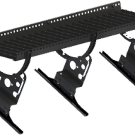 Gångbrygga 2400 mm med konsoler - Takpannor på råspont