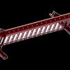 Snörasskydd 1200 mm - TRP, Tegelprofil, Pannplåt, Sinus & Falsat - Snörasskydd 1200 mm - Tegelprofilerad plåt - mörkröd