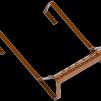 Taksteg till tegel/betongpannor - Taksteg Betong tvåkupigt - Tegelröd