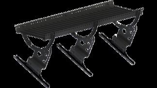 Gångbrygga 2400 mm med konsoler - Takpannor på råspont - Gångbrygga 2400 mm - Takpannor på råspont enkupigt lertegel - Svart