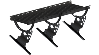 Gångbrygga 1200 mm komplett med konsoler - Takpannor på råspont - Gångbrygga 1200 mm -  Enkupigt lertegel - Svart