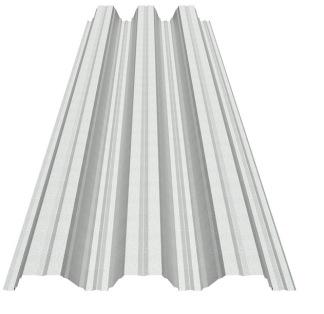 Poolplåt Galvad - 127 Profil! - 127 Profil 0,7 mm - Poolplåt 4,5 m Galvad/Ofärgad