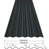 Dala- profil Tp45 takplåt - 128kr/m2