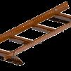 Takstege komplett - Papptak & Shingel - Takstege 1200 mm komplett till papptak - Tegelröd