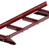 Takstege komplett - Papptak & Shingel - Takstege 1200 mm komplett till papptak - mörkröd