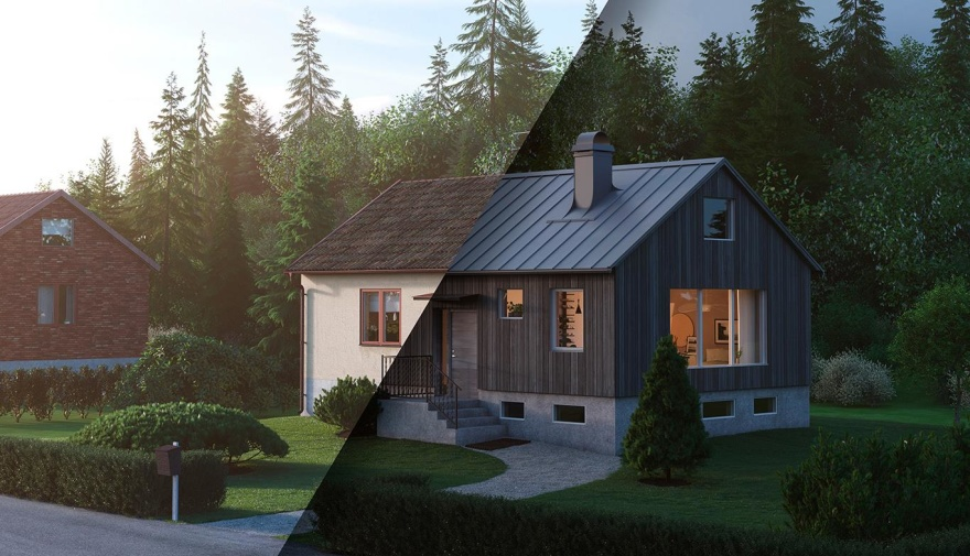 Takinspiration 50-tals hus