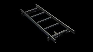 Takstege 1500 mm - TRP, Pannplåt, Tegelprofilerat plåttak, klicktak och Falsat - Takstege 1500 mm TRP & Pannplåt - Svart