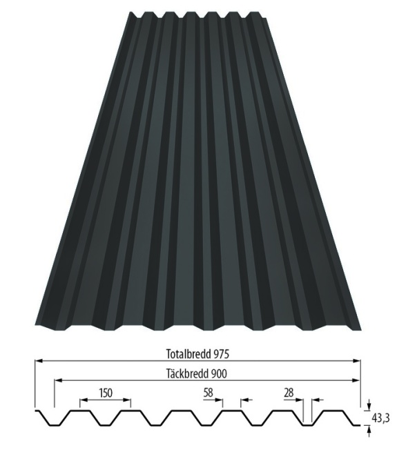 Tp45 med profilgeometri