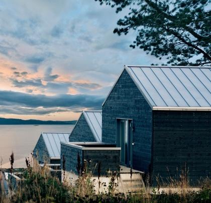 Takplåt kustnära hus Umeå