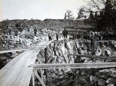 10. Grundsprängning för renseriet 1910 04 14