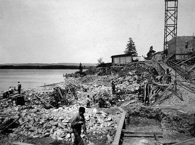 24 Schaktning för kraftstationen 1910 05 13