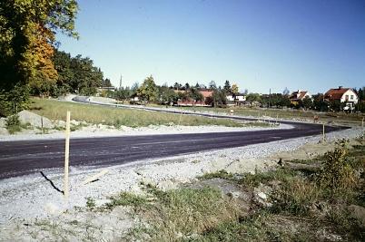 Här ses Seglargatan strax före att byggandet kom igång 1968                            Foto: Hans Olof Somdal