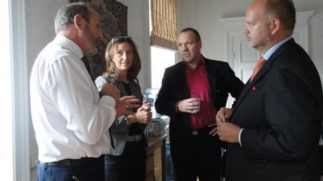 Professor Richard Lamming, Helena Brynolfsson, Per-Arne Rudberg och Pär Larshans