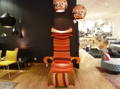 Skön stol för färganalys, kanske. Foto: NY LOOK