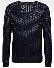 Midnattsblå tröja Giorgio Armani.