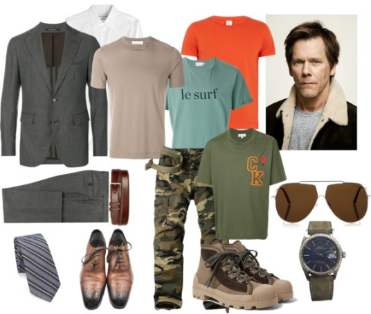 "Färg/Stilinspiration NY LOOK. ""Modell"" Kevin Bacon."